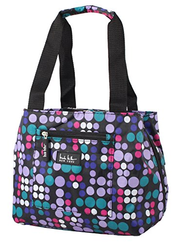 Nicole Miller of New York Insulated Lunch Cooler 11 Lunch Tote (Bangles Lavender)