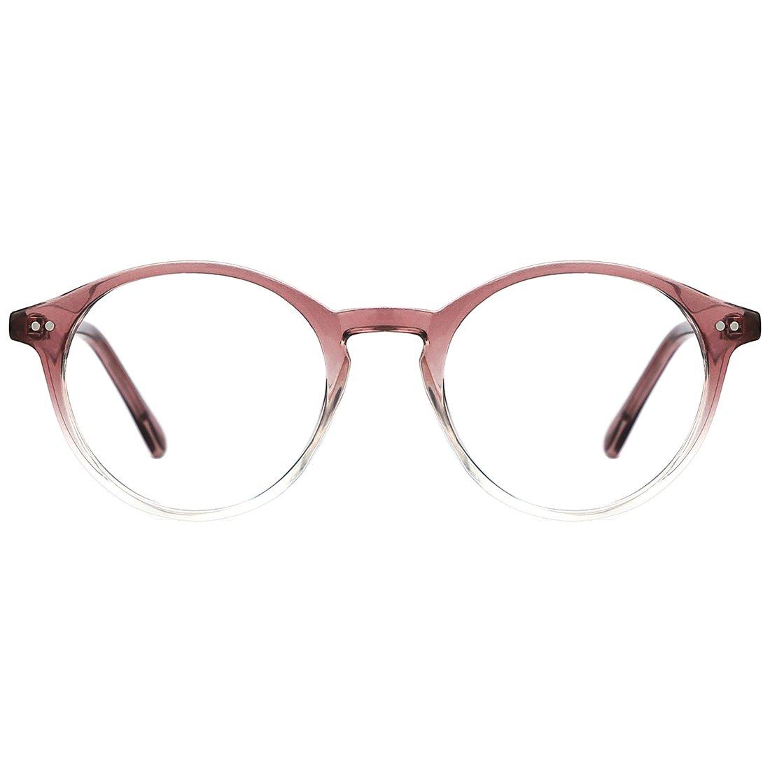 TIJN Vintage Women Thick Round Rim Non-prescription Glasses Eyeglasses Clear Lens 00076101