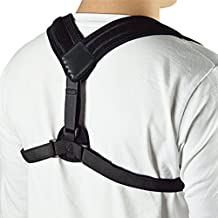 Premium Adjustable Upper Back Brace Posture Corrector and Clavicle Support Brace for Men and Women, Improve Bad Posture, Thoracic Kyphosis, Shoulder Alignment, Upper Back Pain Relief