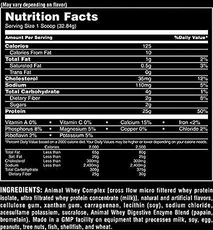 Universal Nutrition Animal Whey, 2300 g, Pack de 1