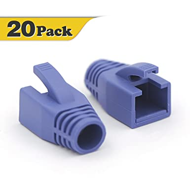 2x 50 RJ45 Network Cable Connector Cover Caps Boot Black 100 Pack Cat 5//5e//6