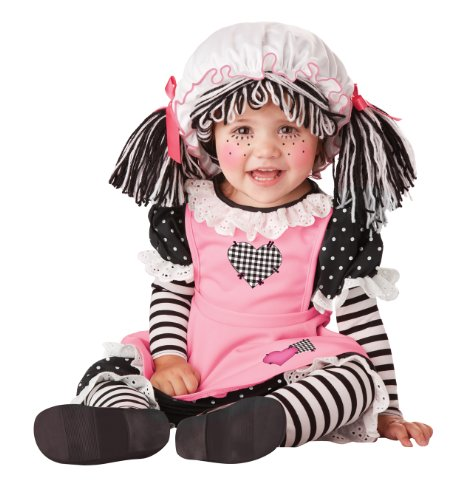 Rag Doll Costume (California Costumes Women's Baby Doll Infant, Black/Pink/White, 12-18)