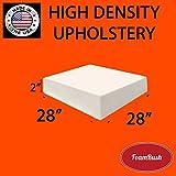FoamRush 2'' x 28'' x 28'' Upholstery Foam Cushion High Density (Chair Cushion Square Foam for Dinning Chairs, Wheelchair Seat Cushion Replacement)