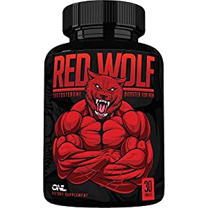 Red Wolf Testosterone Booster for Men – Enlargement Supplement – Ultimate Mens High Potency Endurance, Drive, and…