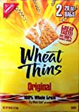 Nabisco Wheat Thins Original Snack Crackers 21 gram Whole Grain 2 Bags of 20oz For Sale