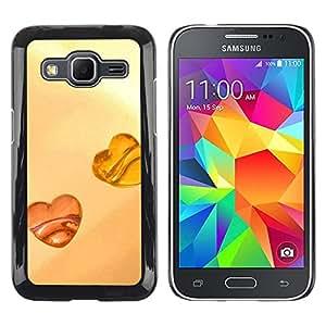LECELL -- Funda protectora / Cubierta / Piel For Samsung Galaxy Core Prime SM-G360 -- Love Amber Love --