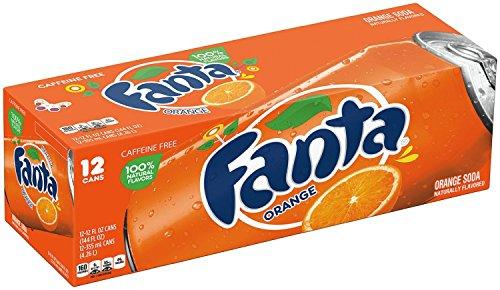 Fanta Orange Soda Fruit Flavored Soft Drink, 12 fl oz, 12 Pack by Fanta