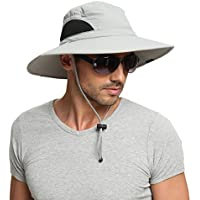 EINSKEY Sun Hat for Men/Women, Outdoor Sun Protection Wide Brim Bucket Hat Breathable Packable Boonie Cap for Safari Fishing Boating Hunting Hiking Camping