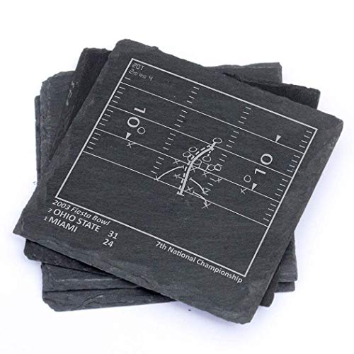 Greatest Ohio State Plays - Slate Coasters (Set of 4) - Ohio State Historic Football