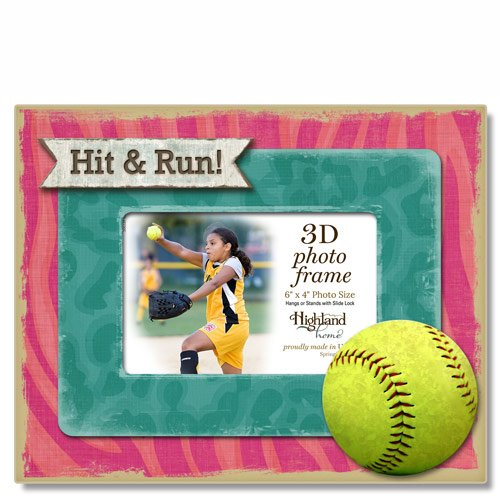 Highland Home Hit & Run 3D Wooden Picture Frame, holds one 4