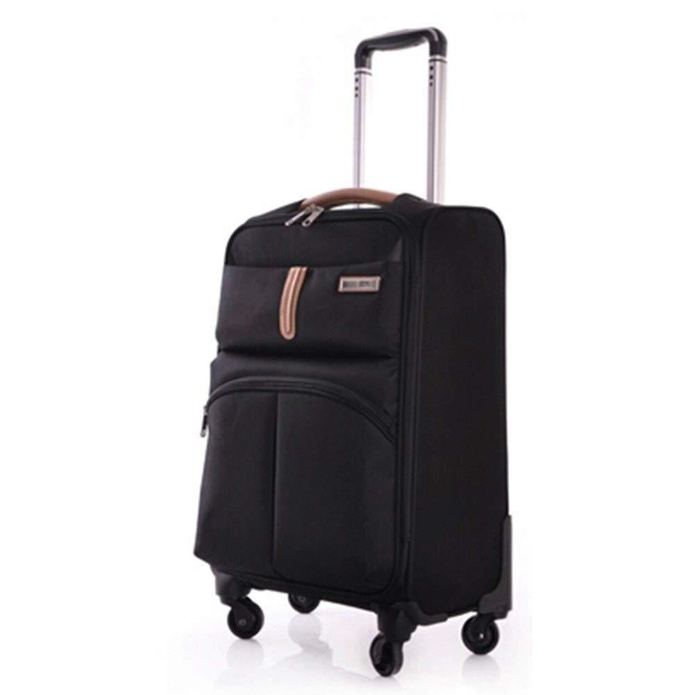 ZHANGQIANG ハンドトラベル荷物トロリーケース 旅行、学校やビジネスのためのスーツケースに乗る旅行用トロリー荷物 (色 : ブラック, サイズ さいず : 37*26*58cm(20)) B07S351BS4 ブラック 37*26*58cm(20)
