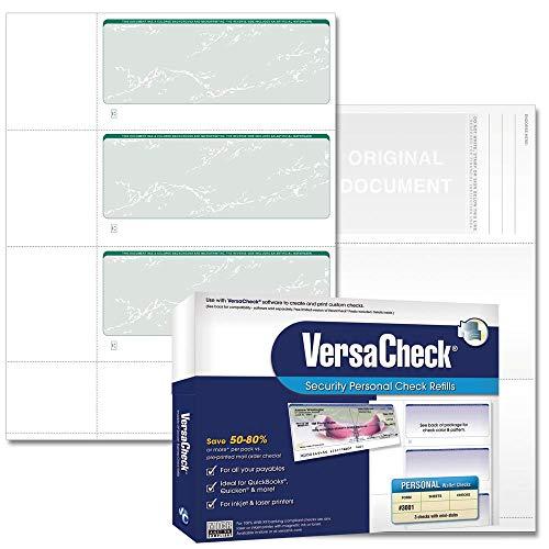 (VersaCheck Security Personal Check Refills: Form #3001 Personal Wallet - Green - Prestige - 250 Sheets)