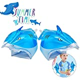 Swim Arms,QUN FENG Pool Floats Inflatable bands Swimming Pool Toys for Kids Learn to Swim float shark,blue