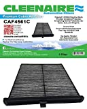 Cleenaire CAF4561C Activated Carbon Protection Against Dust, Smog, Gases, Odors and Allergens, Cabin Air Filter for Your 14 To Current Mazda 3, Mazda 6, CX-5