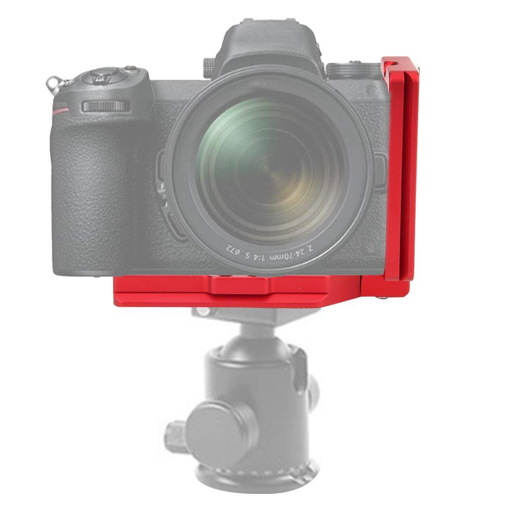 Supporto di Fissaggio Accessorio Testa a Sfera treppiede per Fotocamera mirrorless Nikon Z6 Z7 VBESTLIFE 1//4  3//8  Piastra a L a sgancio rapido