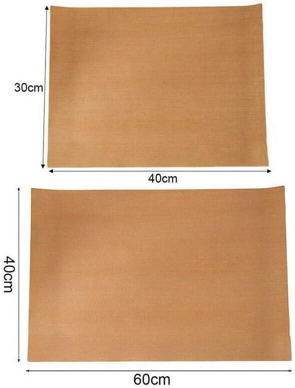 Hojas de silicona para hornear trabajo Mats Horno bandejas Liner pasteles pizza antideslizante de la cocina Blanco 30x40cm