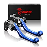MZS CNC Pivot Brake Clutch Levers for Yamaha WR250F 2017-2018,WR450F 2016-2018 Blue