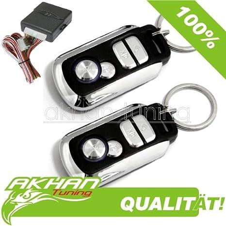 Akhan 100F09 - Funkfernbedienung für vorhandene original Zentralverriegelung, mit 2 Handsender geeignet für pneumatische, ele