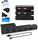 2 in 1 PS4 Pro Cooler with USB External 5-Fan Super Turbo + PS4 Pro USB HUB with(1×3.0)-(4×2.0)-5-USB Ports Cable Adapter
