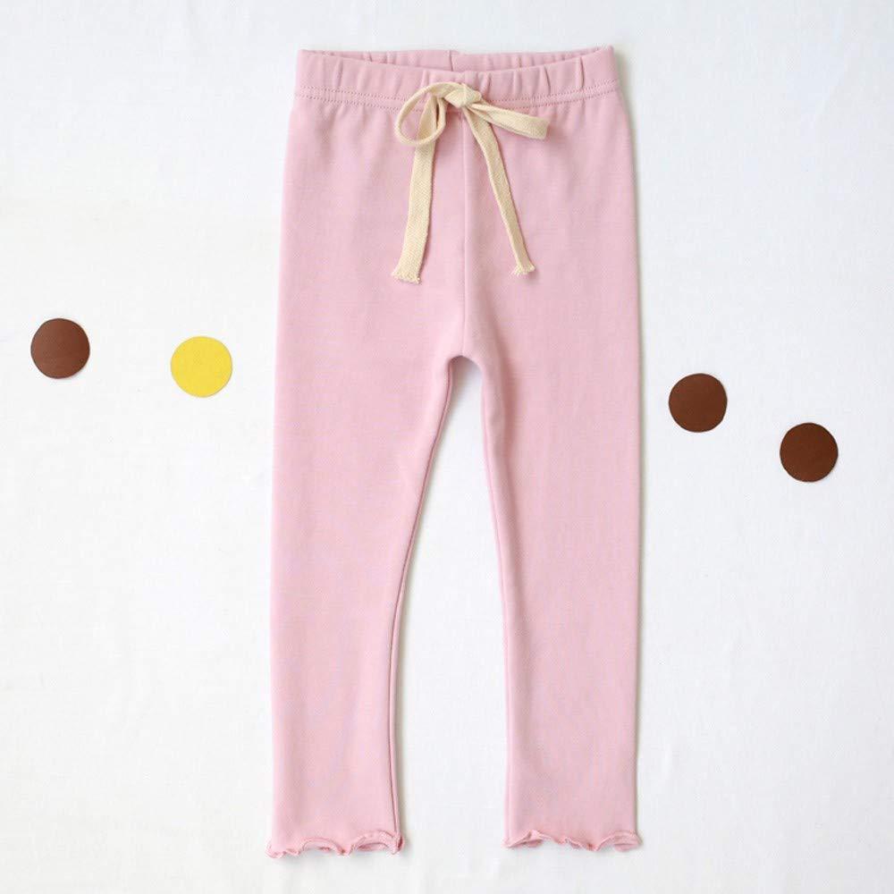 Girls Ruched Legging Ankola Toddler Girls Drawstring Leggings Trousers Pure Color Tight Pants