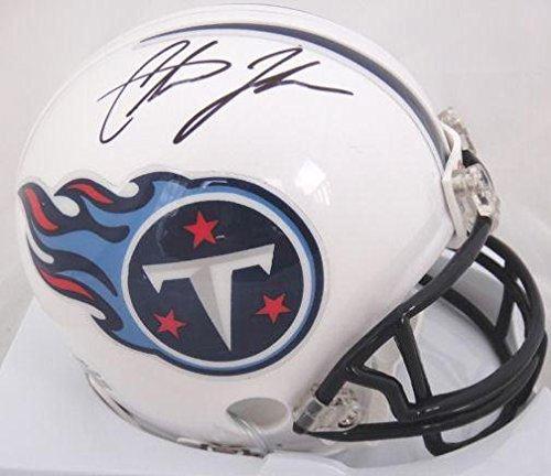 Johnson Autographed Mini Helmet (Chris Johnson Autographed Mini Helmet - JSA Certified - Autographed NFL Mini Helmets)