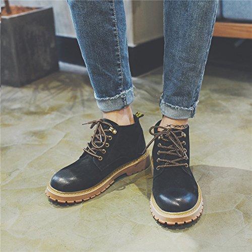 HL-PYL-Tooling Stiefel Stiefel Schuhe Retro koreanischen Martin Stiefel hohe Stiefel Stiefel Stiefel 39 Schwarz 126e1d