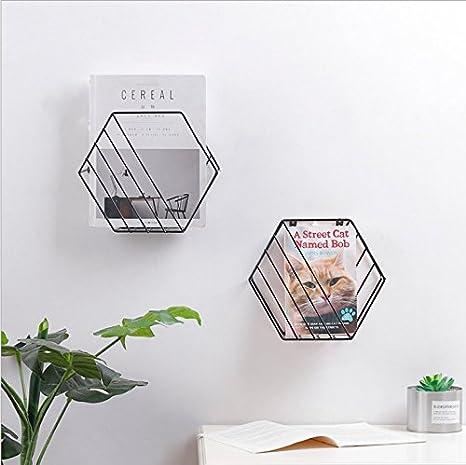 noir joli classeur /à revues en m/étal pour la salle de bain MARGUERAS 1pcs porte-journaux mural la cuisine ou le bureau