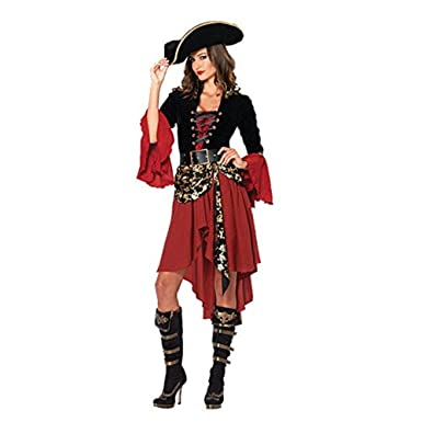 fcf4a704e9158 Amazon.com  Herebuy8 Women s Cruel Seas Captain Pirate Costume ...