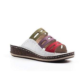 Sandales Talon Ouvert Modèle Shoes Baiwka Toe Tricolores Bout Coutures Femmes2019 Compensées Pour Semelles Peep À Dernier j435RLA