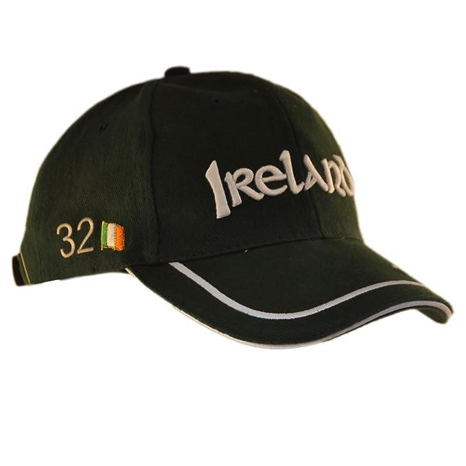 Carrolls Irish Gifts Gorra de béisbol con Irlanda 32 Letras y Ribetes  Blancos Detalle 57a15210c23