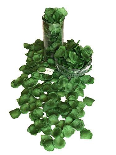 - DALAMODA Green 1000pcs Silk Rose Petals Artificial Flower Wedding Party Aisle Decor Tabl Scatters Confett (Green #3)