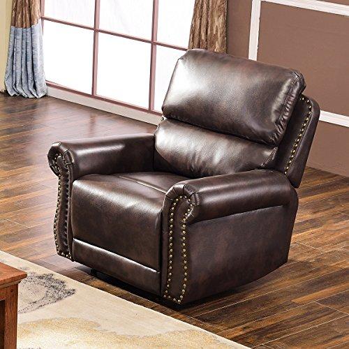 - Harper & Bright Designs Sectional Recliner Sofa Set (Brown) (Chair)
