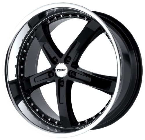 TSW Alloy Wheels Jarama Gloss Black Wheel with Machined Lip (19x8