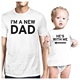 365 Printing I'm A New Dad White Dad and Baby Shirt Unique Gifts For New Dad