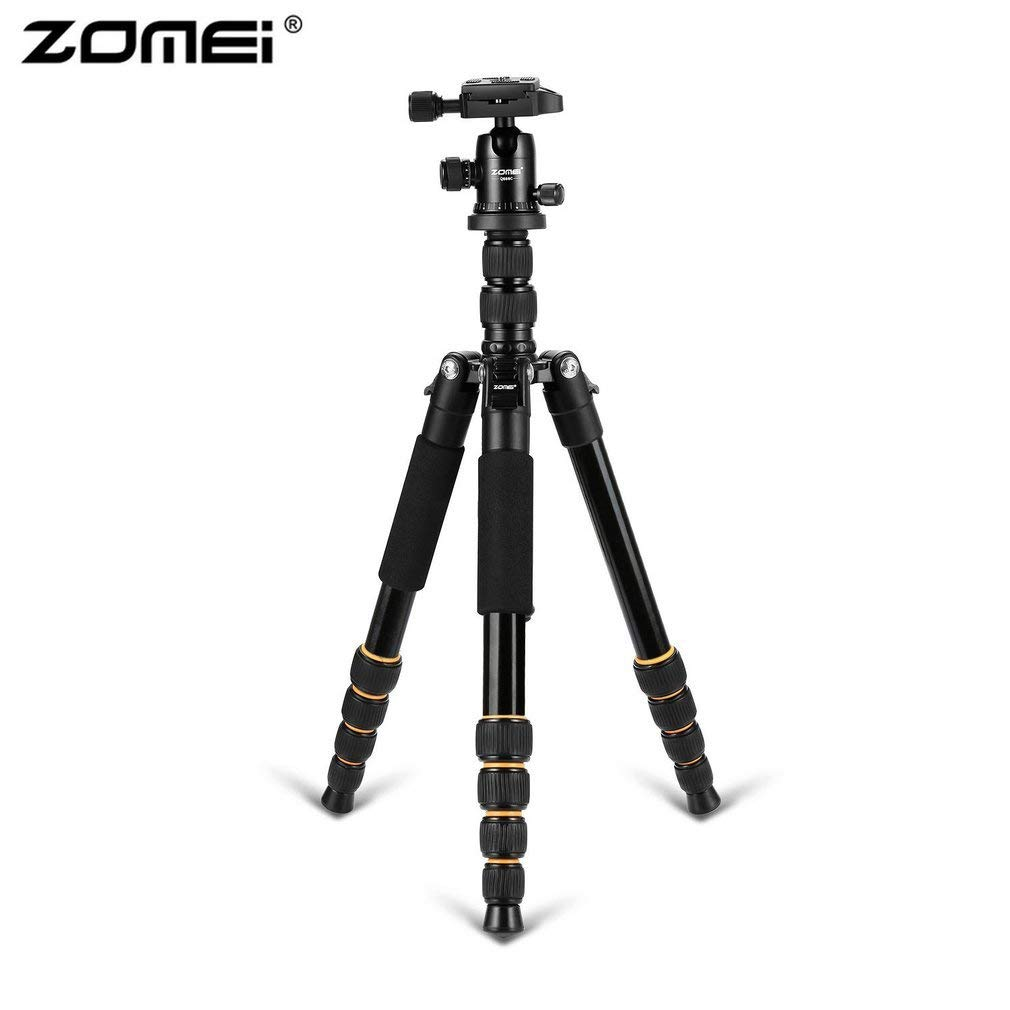 Zomei Q666 プロフェッショナル カメラ 三脚 軽量 ポータブル 旅行 アルミニウム 一脚 360度 ボールヘッド デジタル一眼レフカメラ   B07JKDW4BW