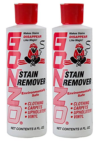 Gonzo Natural Magic Stain Remover - 2 Pack - Non-Toxic Carpet Clothing Sweat Wine Blood Laundry Stain Remover and Cleaner - 8 Fluid Ounces