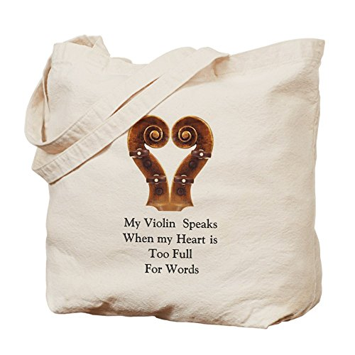 CafePress Unique Design My Violin Speaks Tote Bag - Standard Multi-color by CafePress