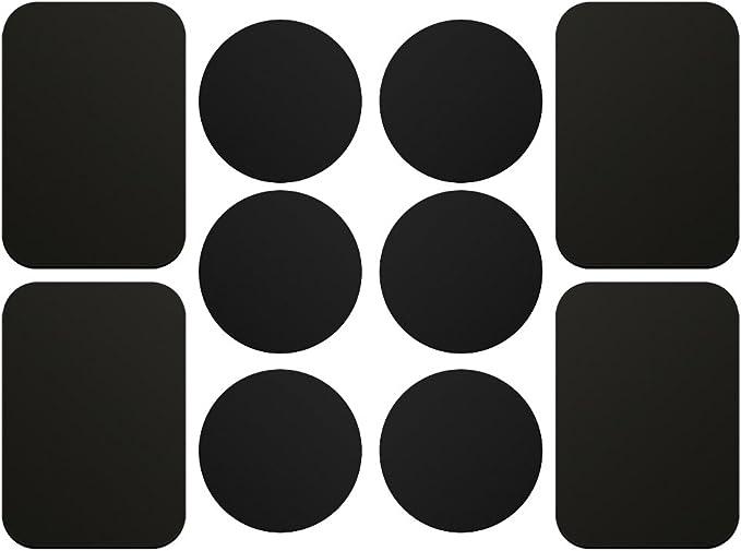 Ajoxel 10 Stück Metallplatte Metallplättchen Selbstklebend Set 6
