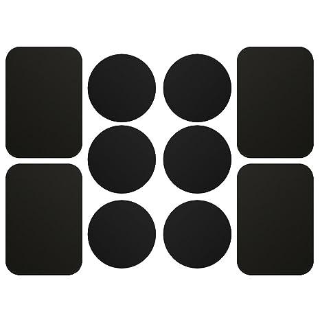 AJOXEL [10 Piezas Láminas Metálicas (6 Redondas y 4 rectangulares) con 3M Adhesivos