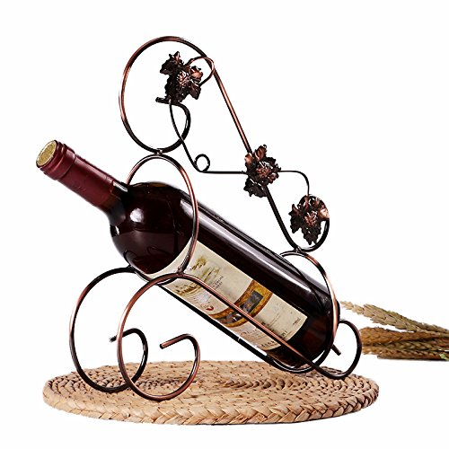 (Wine Racks - Retro Style Wine Holder Maple Leaf Rack Pretty Ornaments Practical Stand Home Decoration Bronze - Three Wine Redwood Mount Mounted Tower Small Moveable Ponderosa America Black Ha)