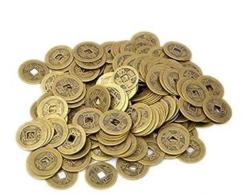 Amazonde Meeall 60pcs Dragon Chinesischen Glück Münzen Shui I