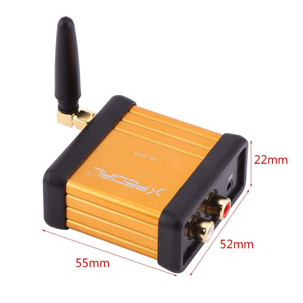 DC 5V Mini Hi-Fi Bluetooth 4.2 Receptor de audio Caja est/éreo Adaptador RCA Tarjeta del amplificador de salida