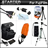 Starter Accessories Kit For Fuji Fujifilm FinePix XP200, XP170, XP150, XP100 Waterproof Digital Camera Includes Deluxe Carrying Case + 50 Tripod w/ Case + Micro HDMI Cable + USB 2.0 Card Reader + Float Strap + Mini TableTop Tripod + MicroFiber Cloth ++