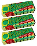 Okleen, 27 Sponges. Two Types of Multi-Use Scrub Sponges for Household Cleaning. Size:4.33x2.76x1.38 inch