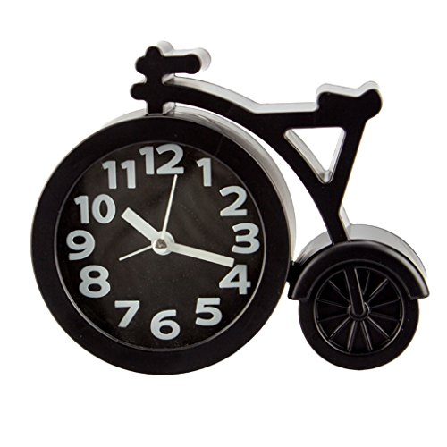Slowslient Mini Alarm Clock, Bicycle Clocks Quartz Analog Al