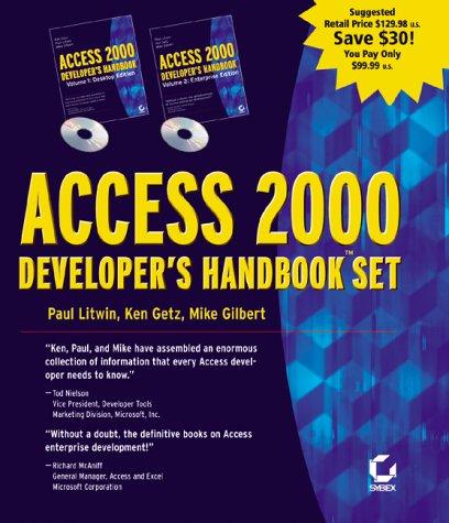Access 2000 Developer's Handbook 2 Volume Set