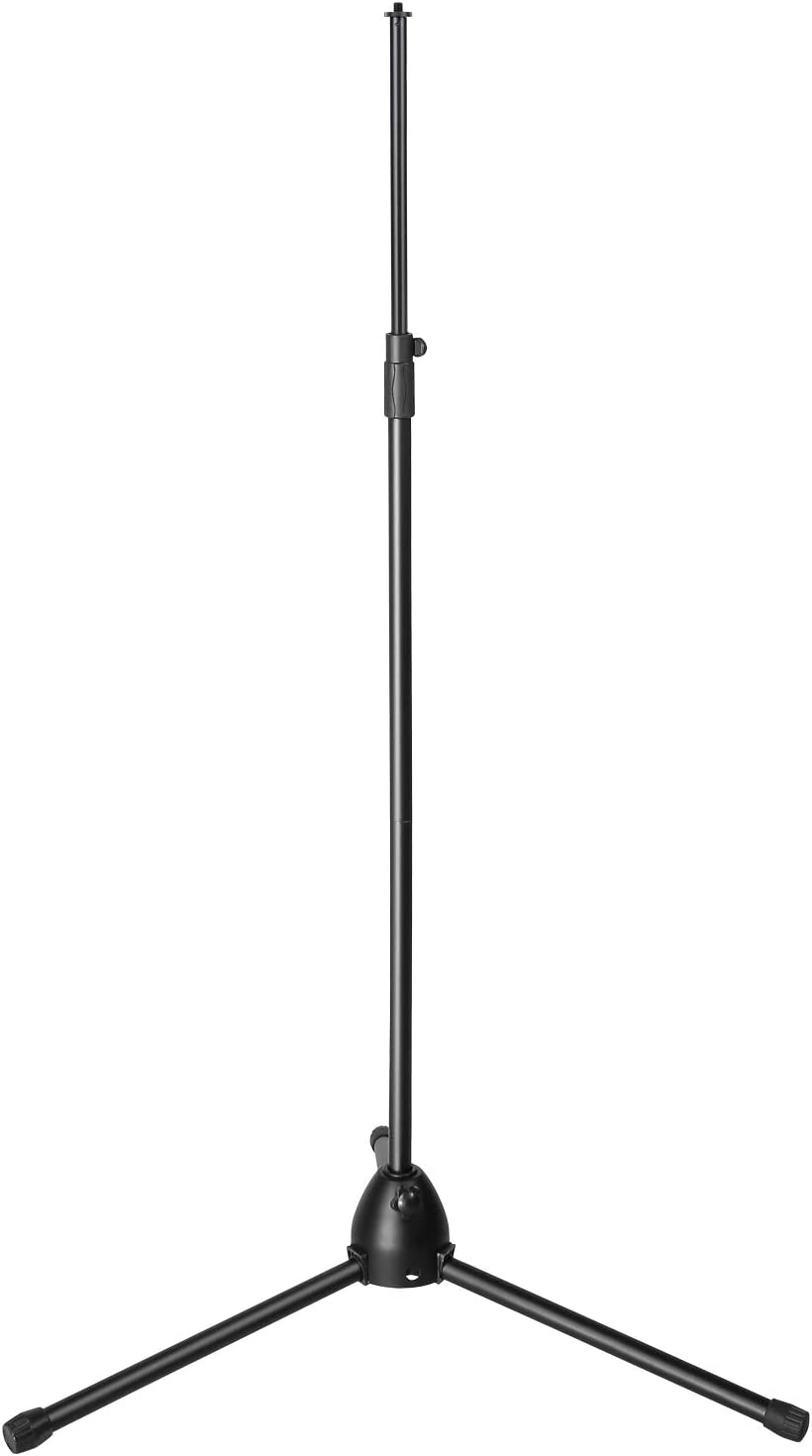 Microphone Stand, AGPTEK Condenser Microphone Stand with Non-Slip Feet, Adjustable Height & Foldable Design, 33.46-68.9 inches, Suitable for Supporting Acoustic Isolation Shield in Studio (Black)