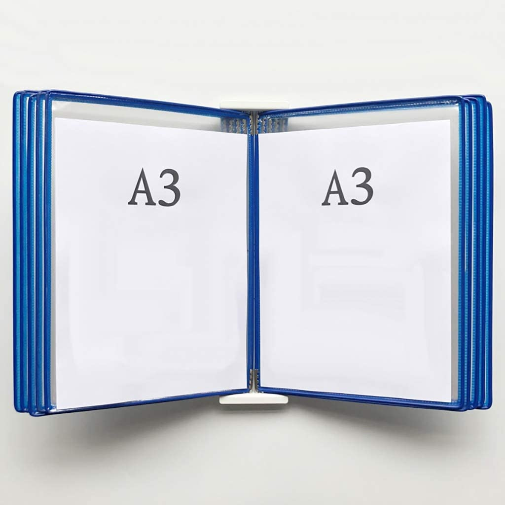 453310CM PVC + Metal Color : P Shop Page flip Folder A3 Wall-Mounted Loose-Leaf Transparent Page Display Stand