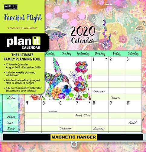 Wells Street by LANG WSBL Fanciful Flight 2020 Plan-It Plus (20997009164) Academic Wall Calendar (20997009164) (Family Plan It Calendar)