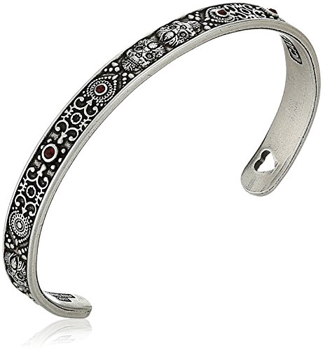 (Alex and Ani Calavera Cuff Bangle Bracelet, Rafaelian Silver, Expandable)